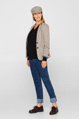 V-neck jumper with cashmere/wool, LCBLACK, detail