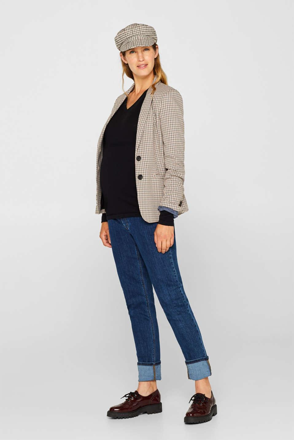 V-neck jumper with cashmere/wool, LCBLACK, detail image number 1