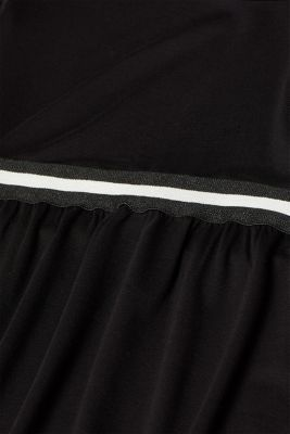 Stretch jersey long sleeve top with elasticated tape, LCBLACK, detail