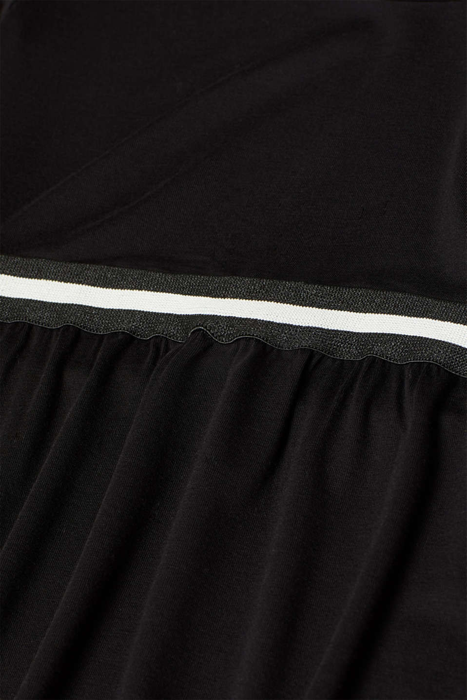 Stretch jersey long sleeve top with elasticated tape, LCBLACK, detail image number 4