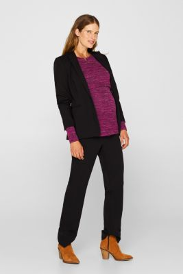Melange, layered long sleeve top with a nursing function, LCPLUM RED, detail