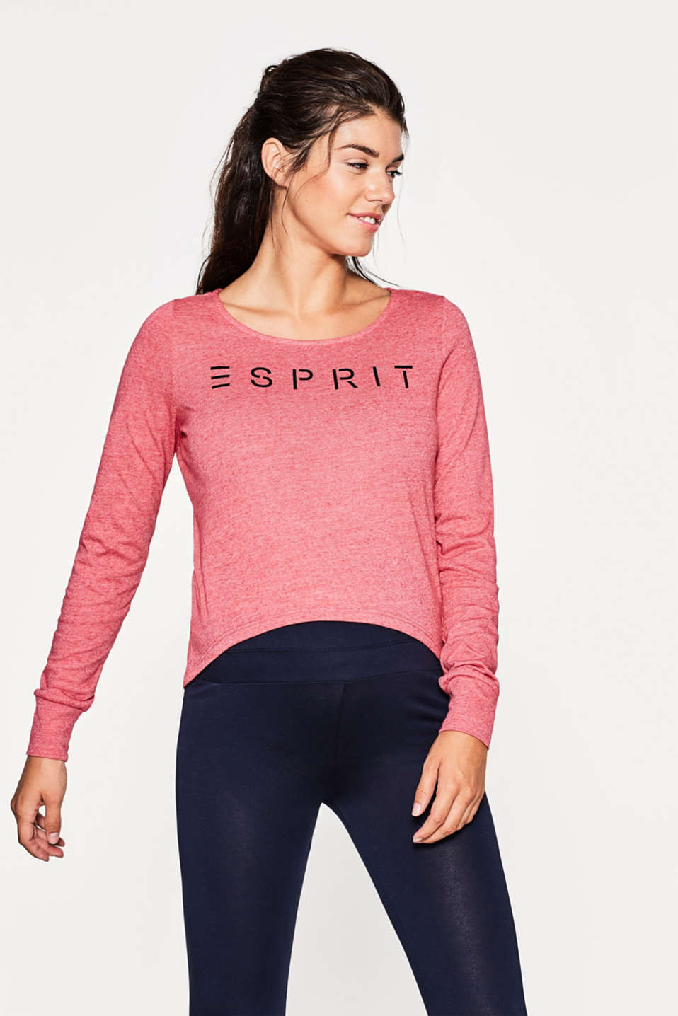 Esprit - Active long sleeve top with a logo print