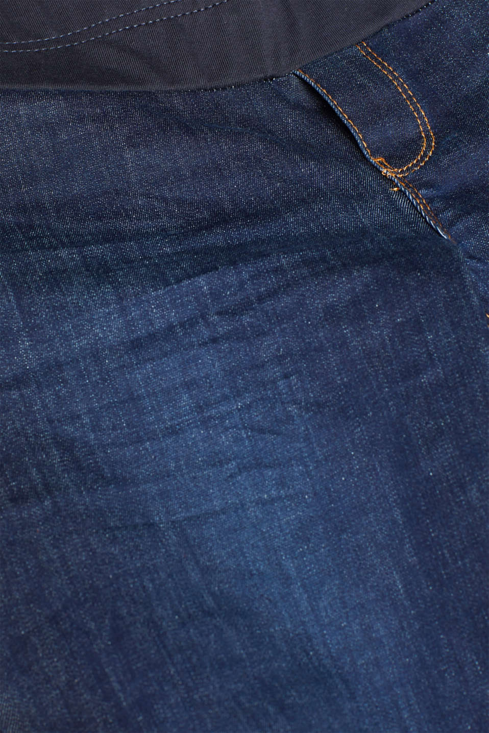Stretch jeggings with an under-bump waistband, LCDARKWASH, detail image number 4