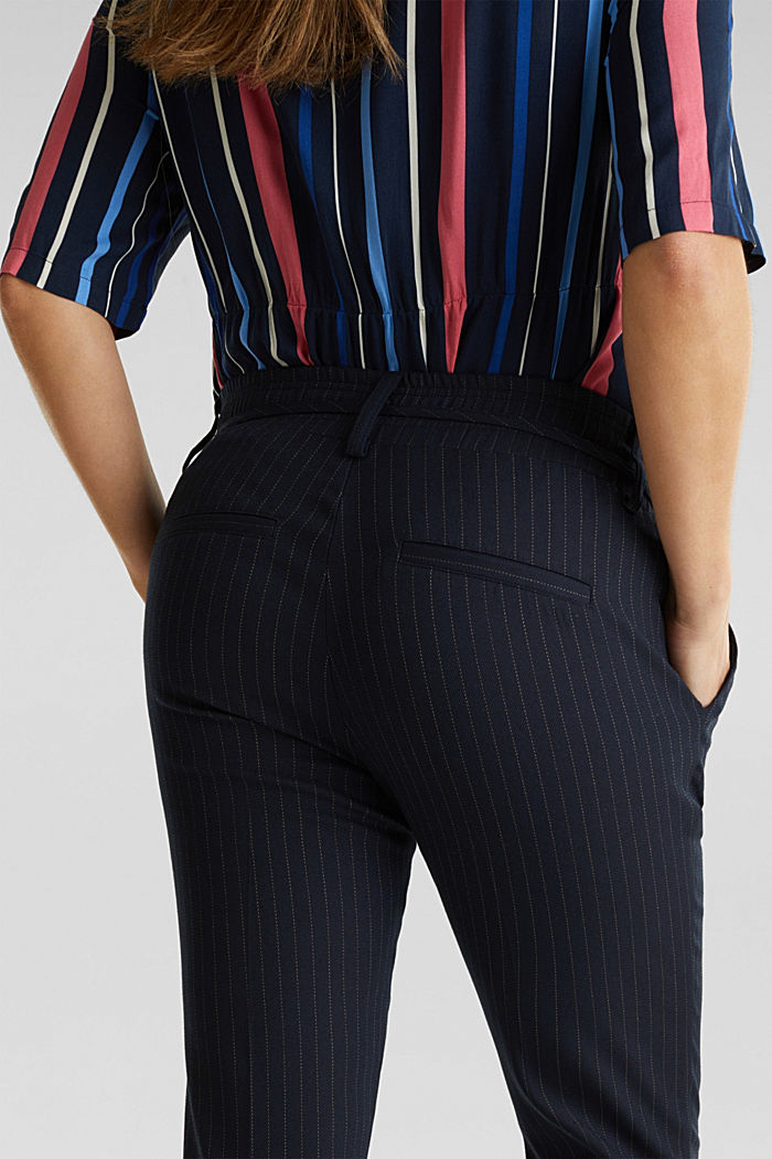 Stretch trousers with an under-bump waistband, NIGHT BLUE, detail image number 4
