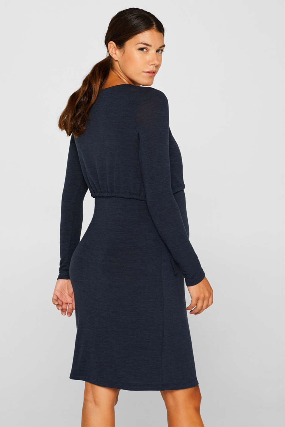 Stretch jersey nursing dress, LCNIGHT BLUE, detail image number 2