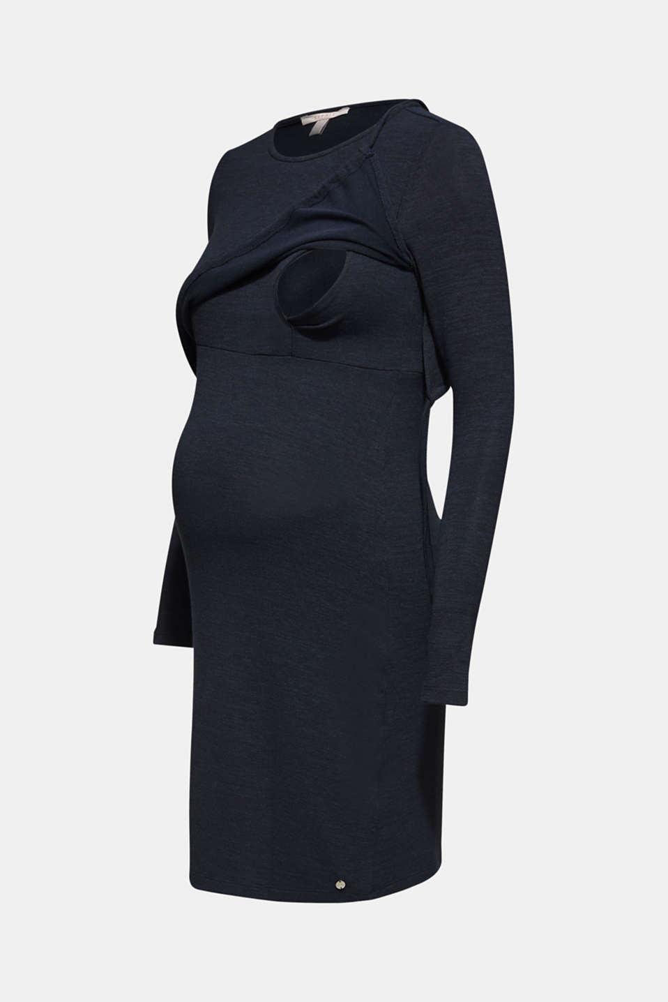 Stretch jersey nursing dress, LCNIGHT BLUE, detail image number 5