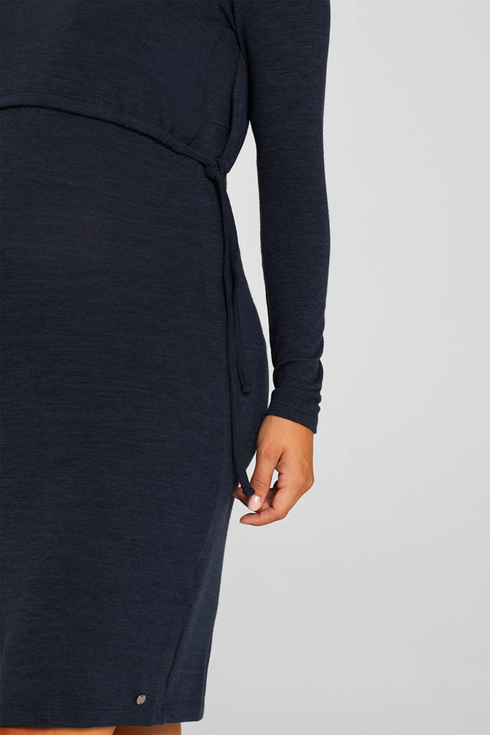 Stretch jersey nursing dress, LCNIGHT BLUE, detail image number 3