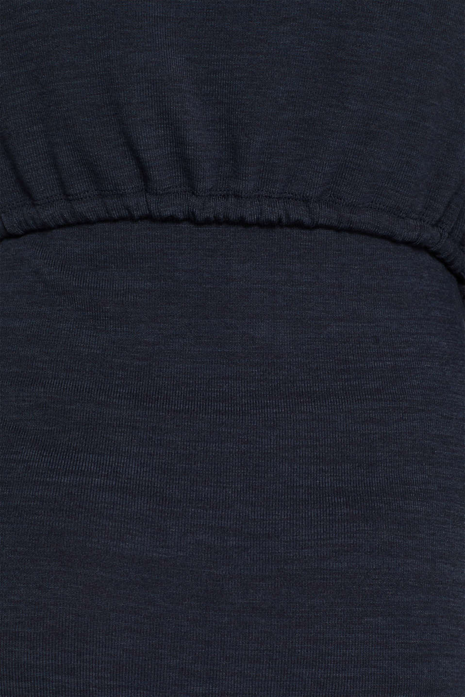 Stretch jersey nursing dress, LCNIGHT BLUE, detail image number 4