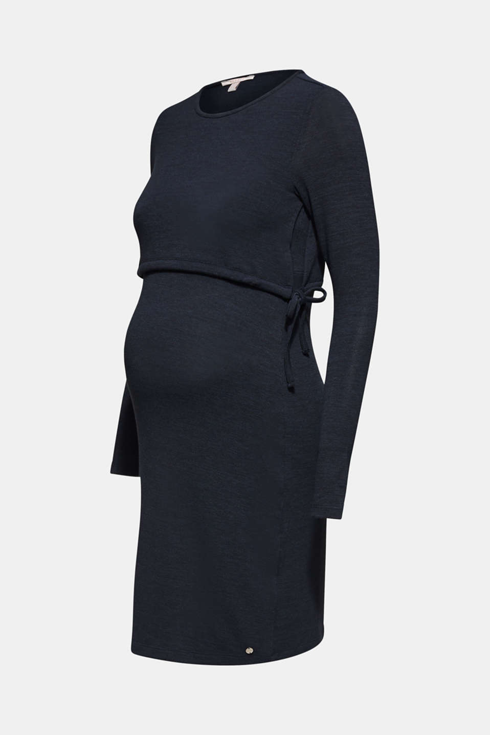 Stretch jersey nursing dress, LCNIGHT BLUE, detail image number 6