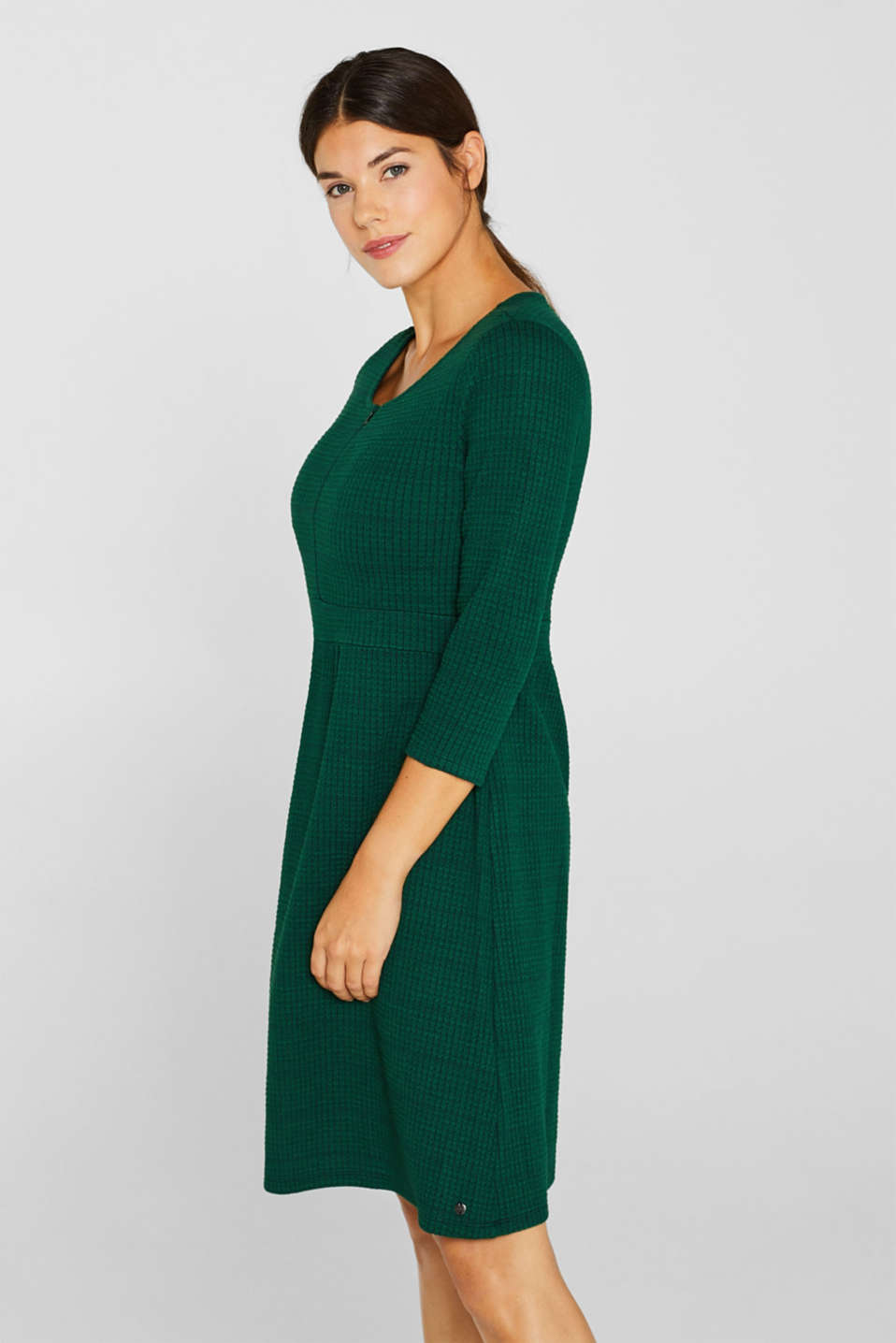 Textured dress with a nursing function, LCBOTTLE GREEN, detail image number 5
