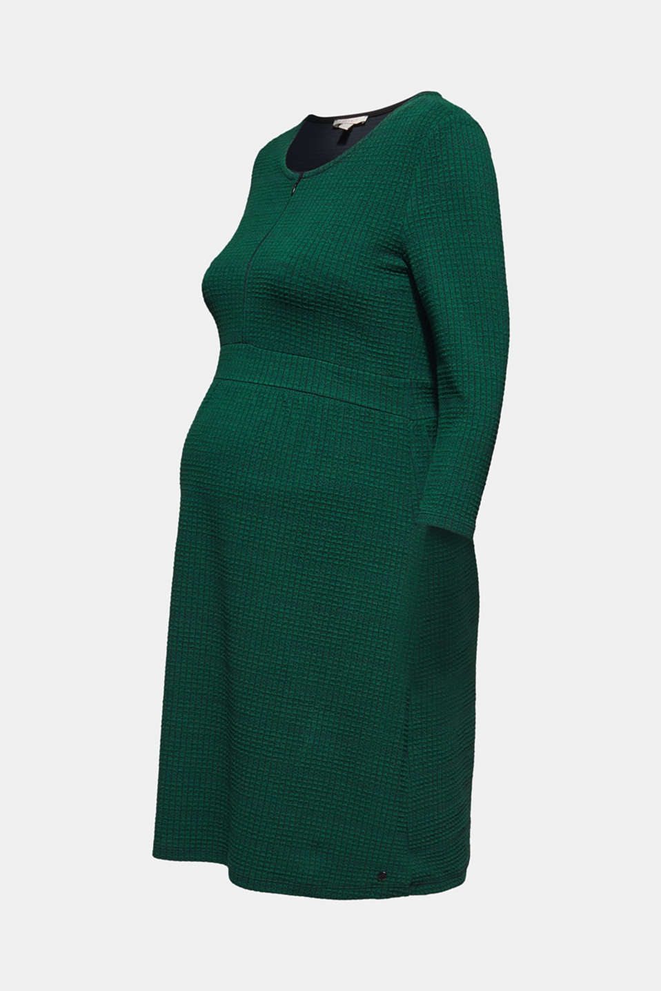 Textured dress with a nursing function, LCBOTTLE GREEN, detail image number 7