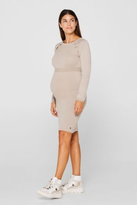 Knit dress with a nursing function, LCCAMEL, detail