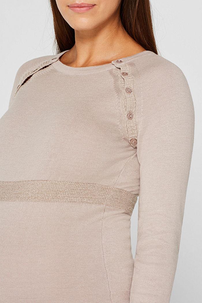 Strick-Kleid mit Stillfunktion, CAMEL, detail image number 3