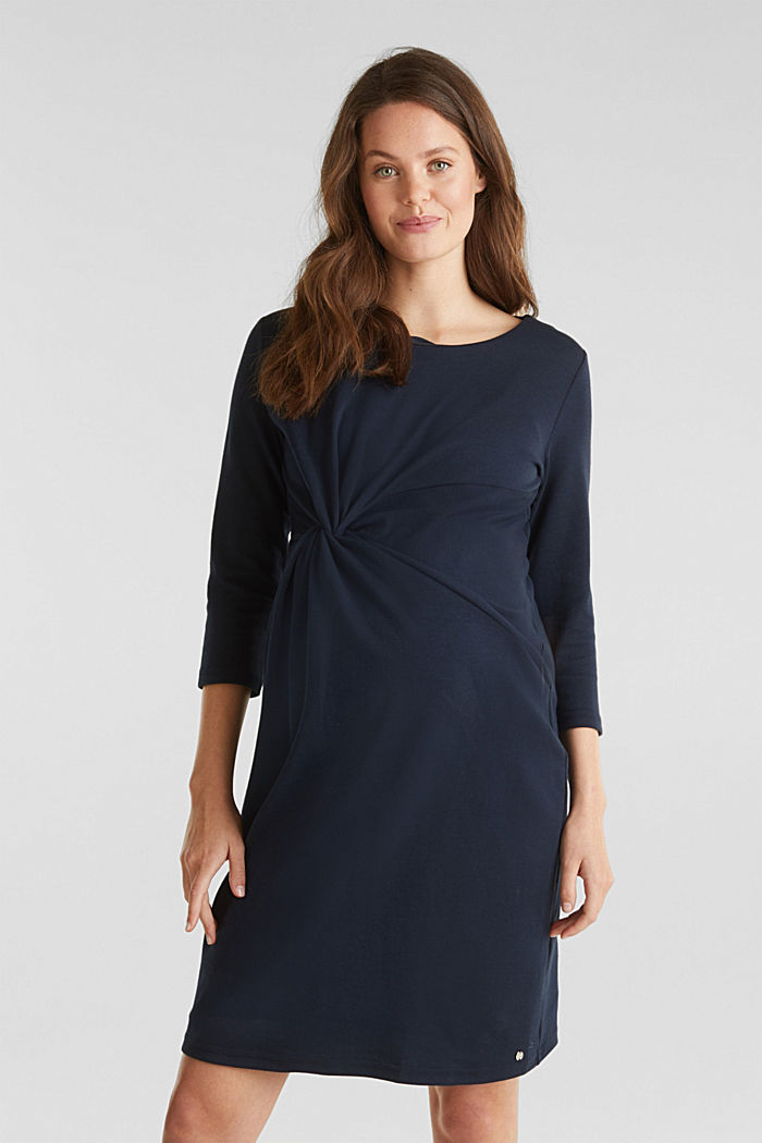 Draped jersey dress with stretch