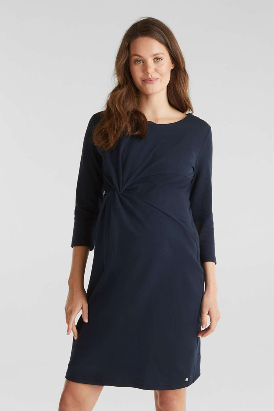 Esprit - Draped jersey dress with stretch