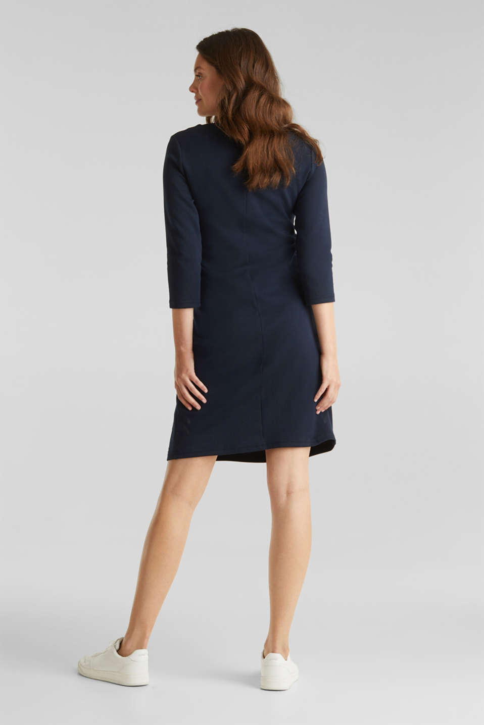 Draped jersey dress with stretch, LCNIGHT BLUE, detail image number 2