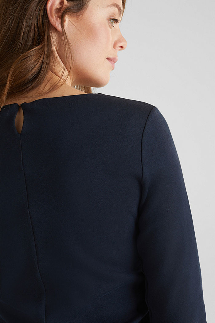 Draped jersey dress with stretch, NIGHT BLUE, detail image number 3