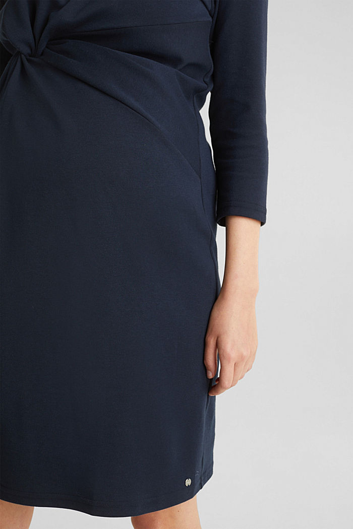 Draped jersey dress with stretch, NIGHT BLUE, detail image number 5