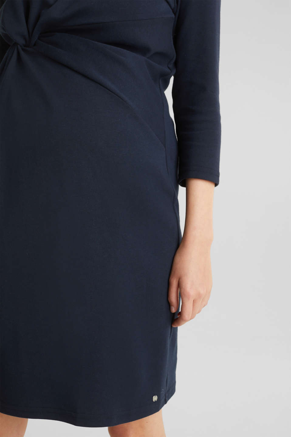 Draped jersey dress with stretch, LCNIGHT BLUE, detail image number 5