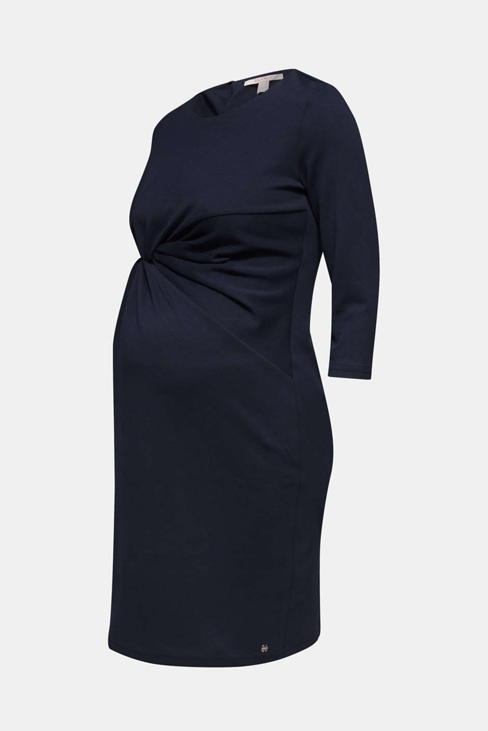 Draped jersey dress with stretch, LCNIGHT BLUE, detail image number 7