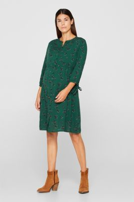 woven dress with a nursing function, LCBOTTLE GREEN, detail