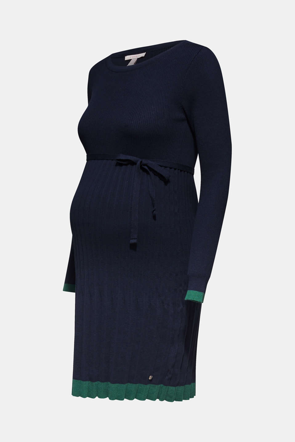 Knitted dress with a pleated skirt, LCNIGHT BLUE, detail image number 5