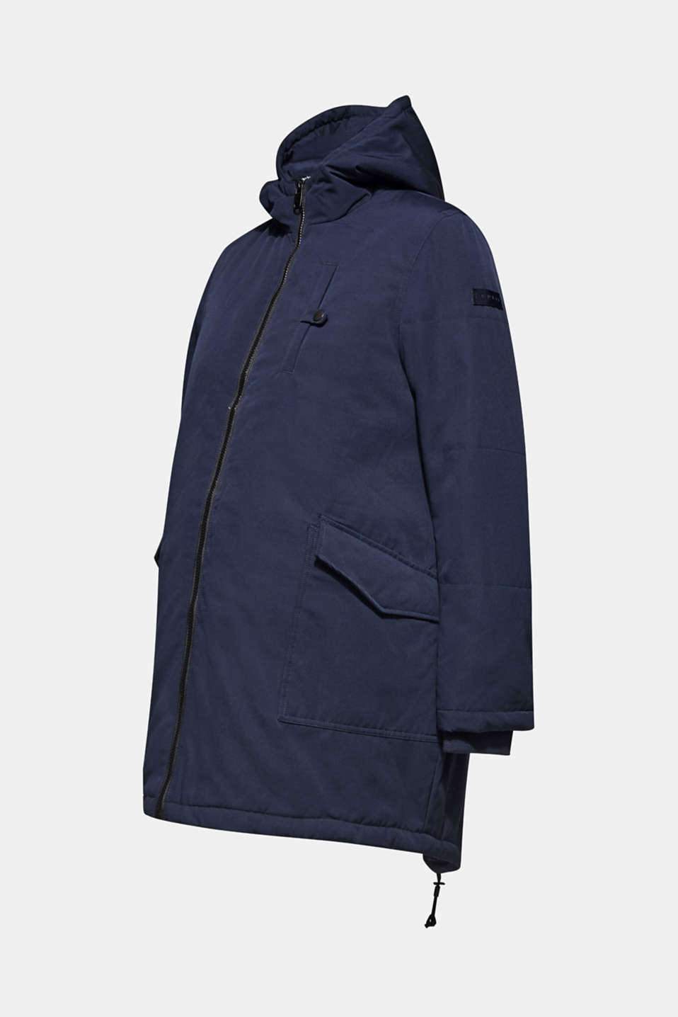 Padded outdoor jacket with a hood, LCNIGHT BLUE, detail image number 1