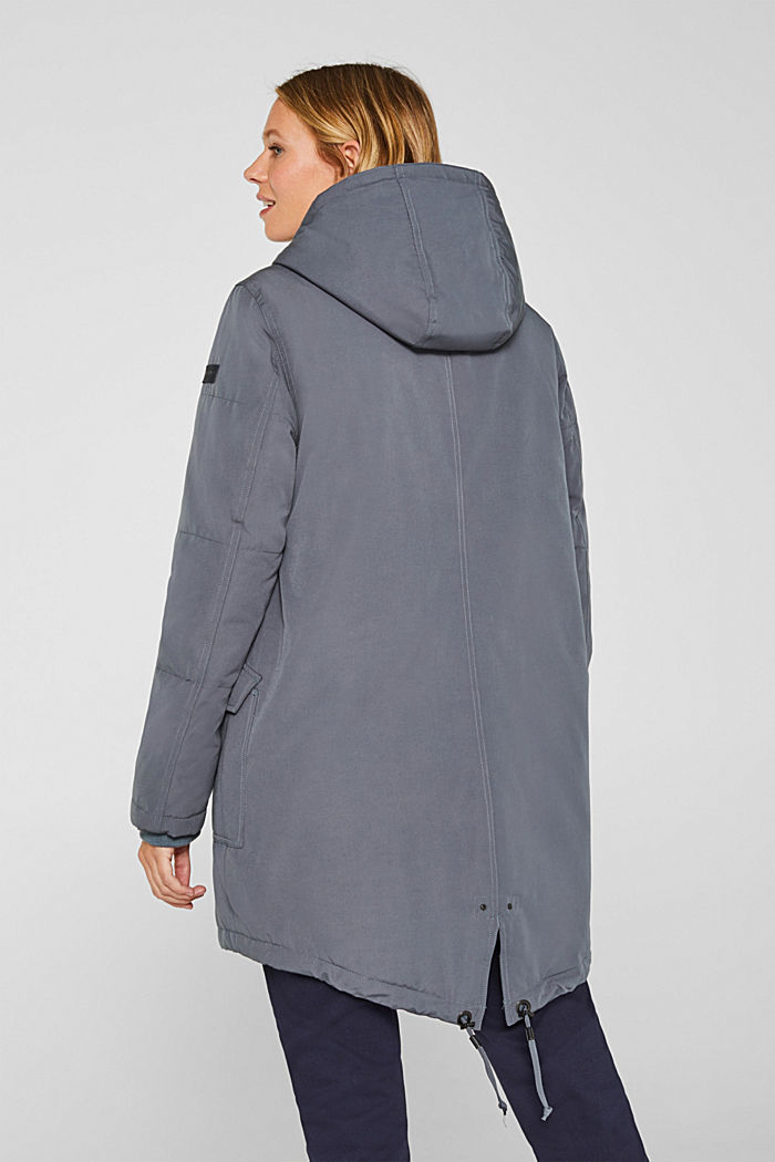 Padded outdoor jacket with a hood, MALADIVE BLUE, detail image number 3