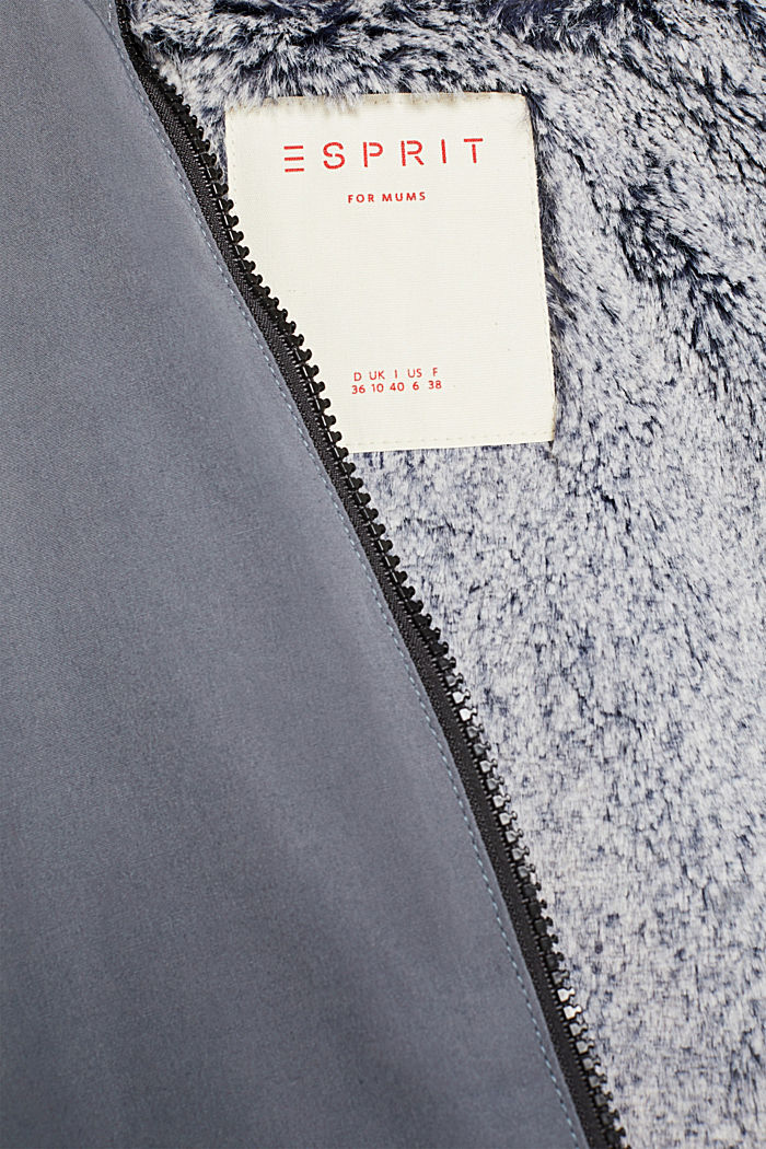 Padded outdoor jacket with a hood, MALADIVE BLUE, detail image number 2