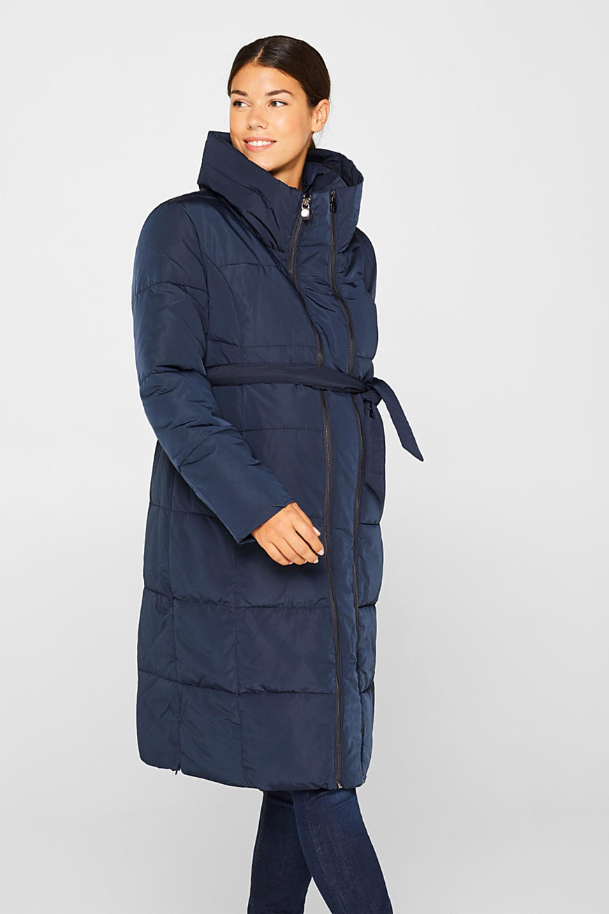 Adjustable two-way quilted coat