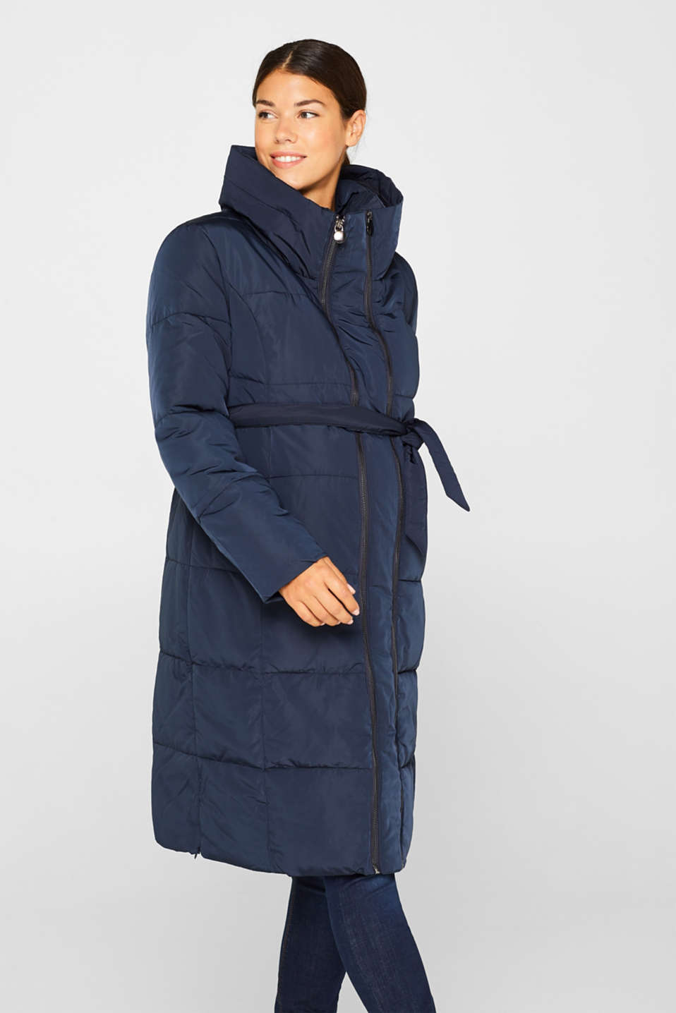 Esprit - Adjustable two-way quilted coat