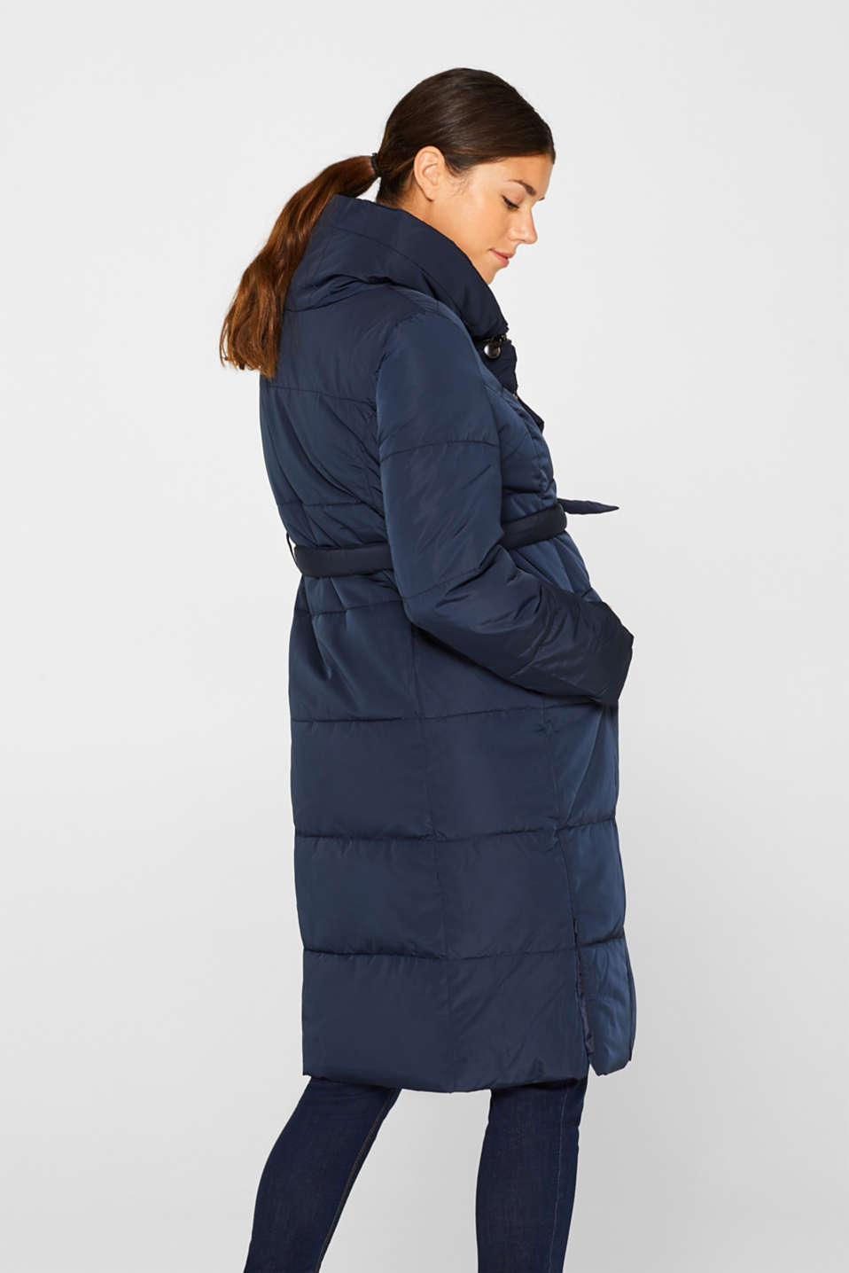 Adjustable two-way quilted coat, LCNIGHT BLUE, detail image number 3
