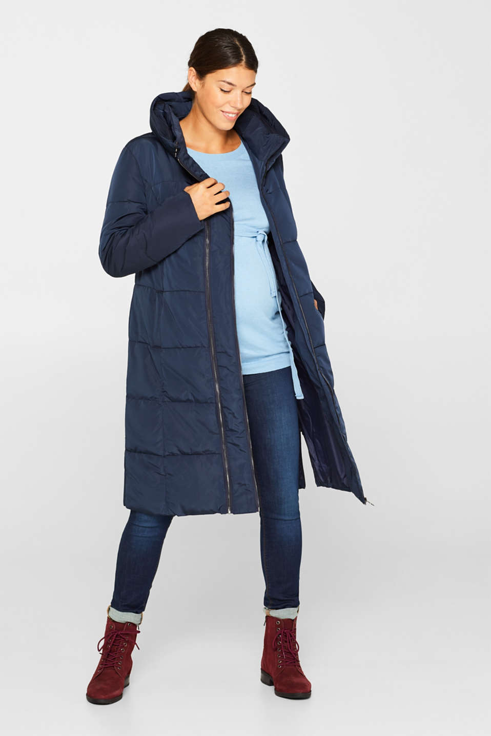 Adjustable two-way quilted coat, LCNIGHT BLUE, detail image number 1