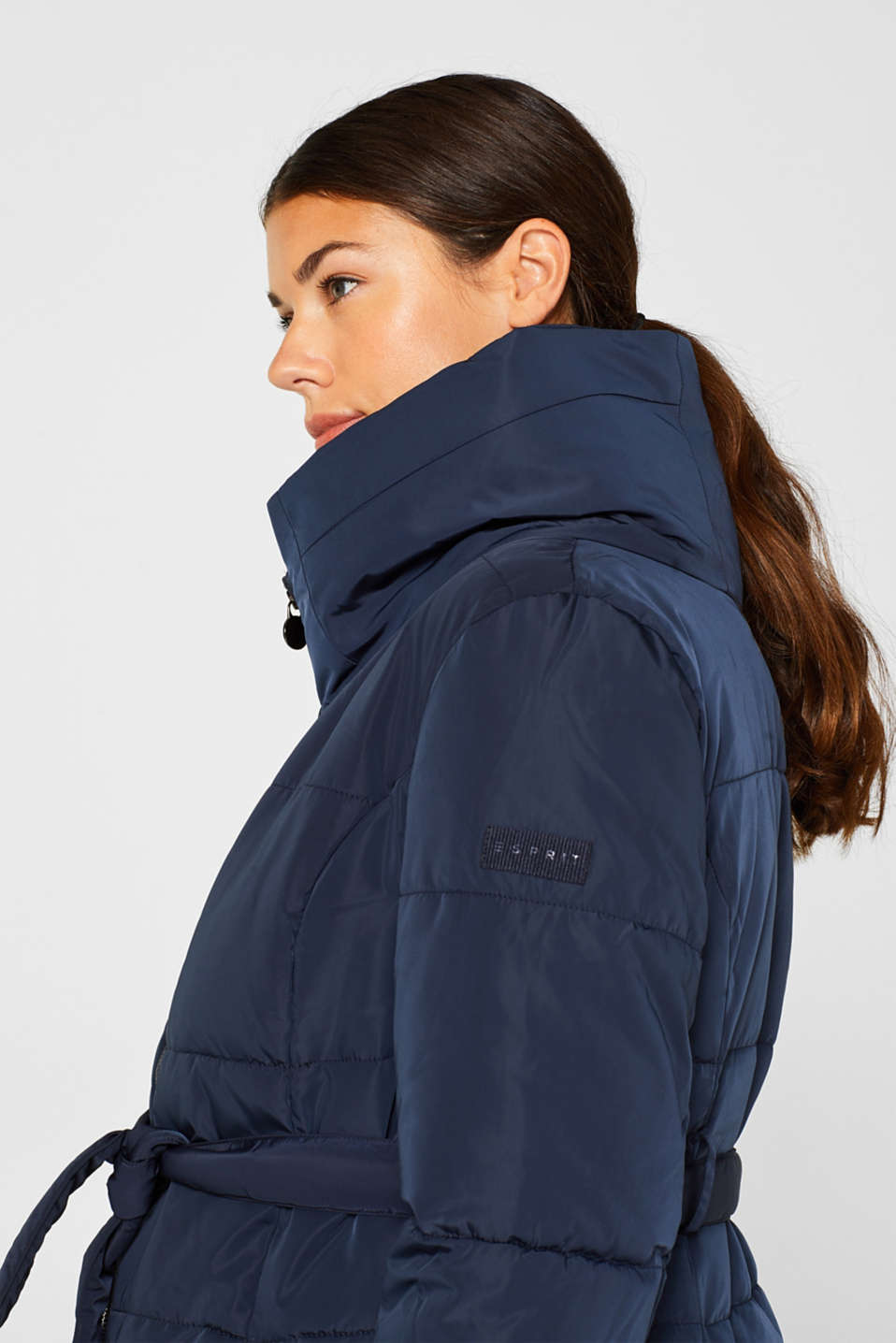 Adjustable two-way quilted coat, LCNIGHT BLUE, detail image number 2