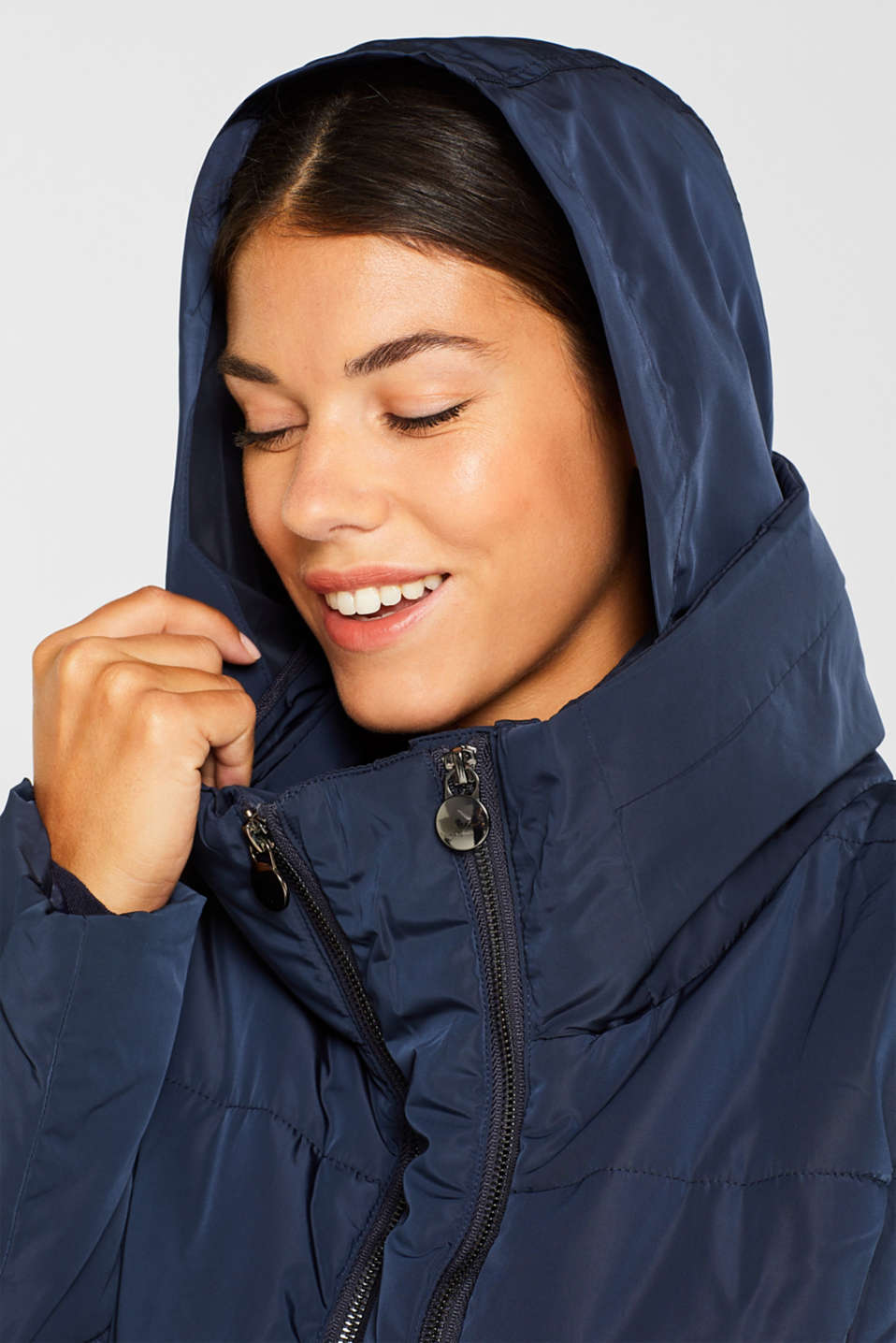 Adjustable two-way quilted coat, LCNIGHT BLUE, detail image number 5