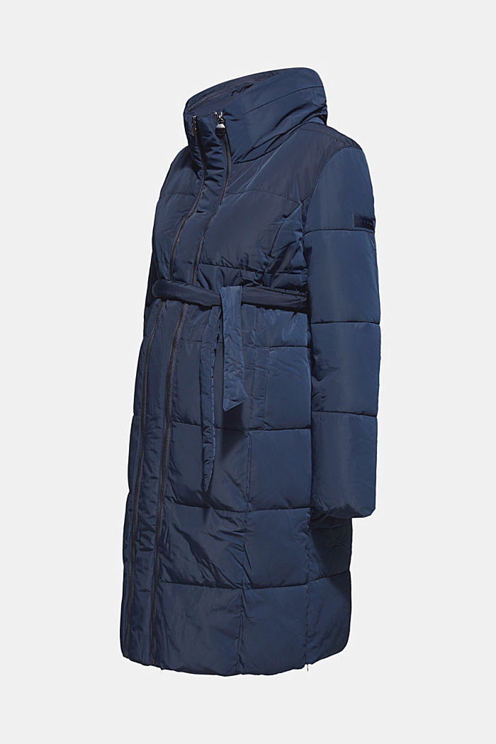 Adjustable two-way quilted coat, NIGHT BLUE, detail image number 0