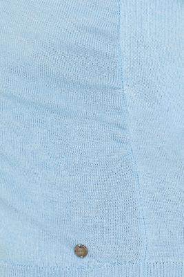 Jumper with a belt, blended cotton, LCLIGHT BLUE, detail
