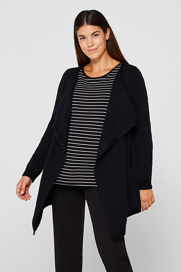 Open textured cardigan