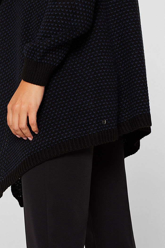 Open textured cardigan, NIGHT BLUE, detail image number 2