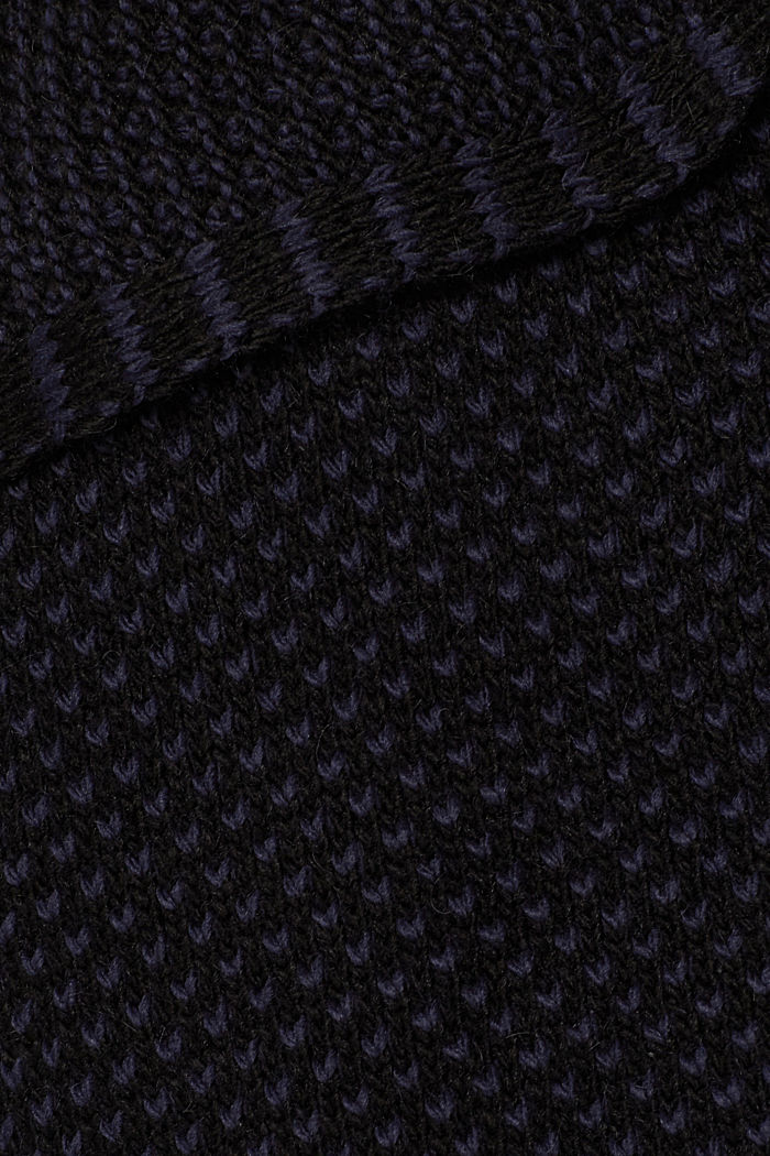 Open textured cardigan, NIGHT BLUE, detail image number 4