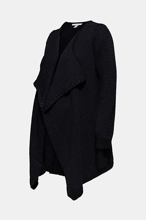 Open textured cardigan