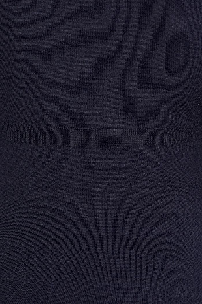 V-neck jumper, 100% cotton, LCNIGHT BLUE, detail image number 4