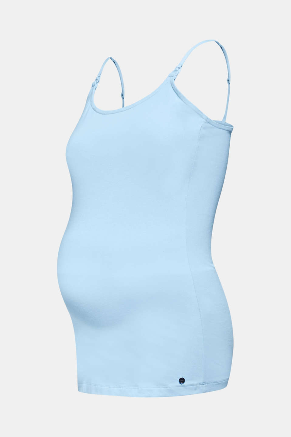 Stretchy nursing top, LCLIGHT BLUE, detail image number 5