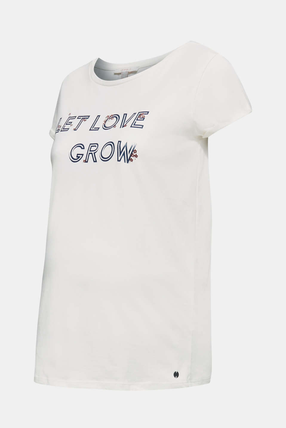 100% cotton T-shirt with a front print, LCOFF WHITE, detail image number 5