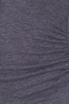Stretch long sleeve nursing top, LCNIGHT BLUE, detail