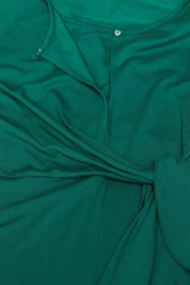 Stretchy nursing top, LCBOTTLE GREEN, detail