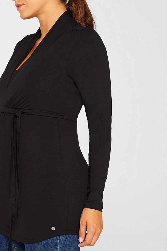 Stretchy nursing top, BLACK, detail image number 2
