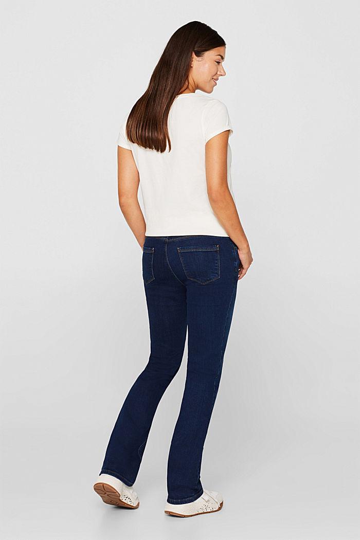 Stretch-Jeans mit Überbauchbund, BLUE DARK WASHED, detail image number 2