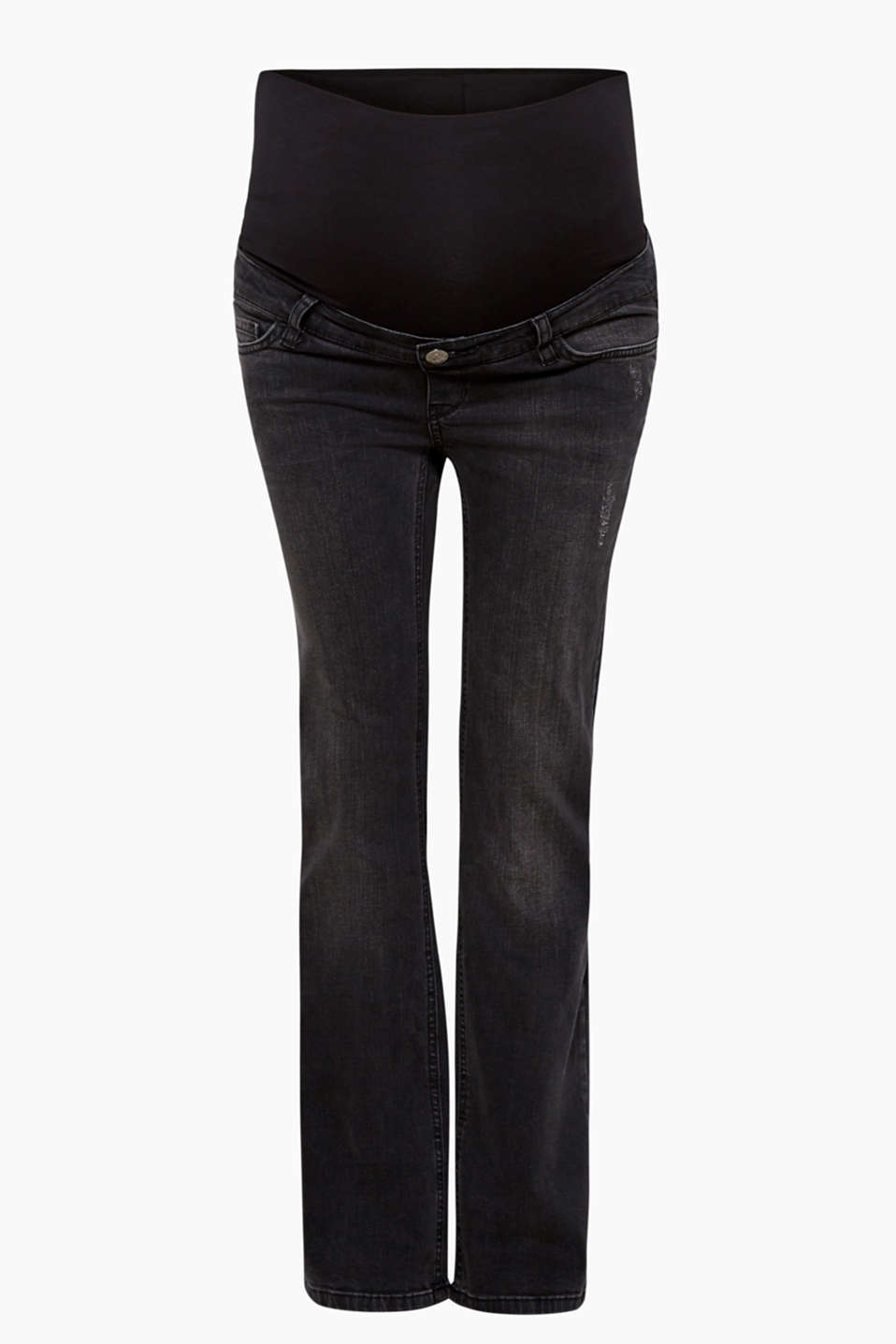 A casual vintage finish and the understated bootcut fit give these stretch jeans their cool and versatile look!
