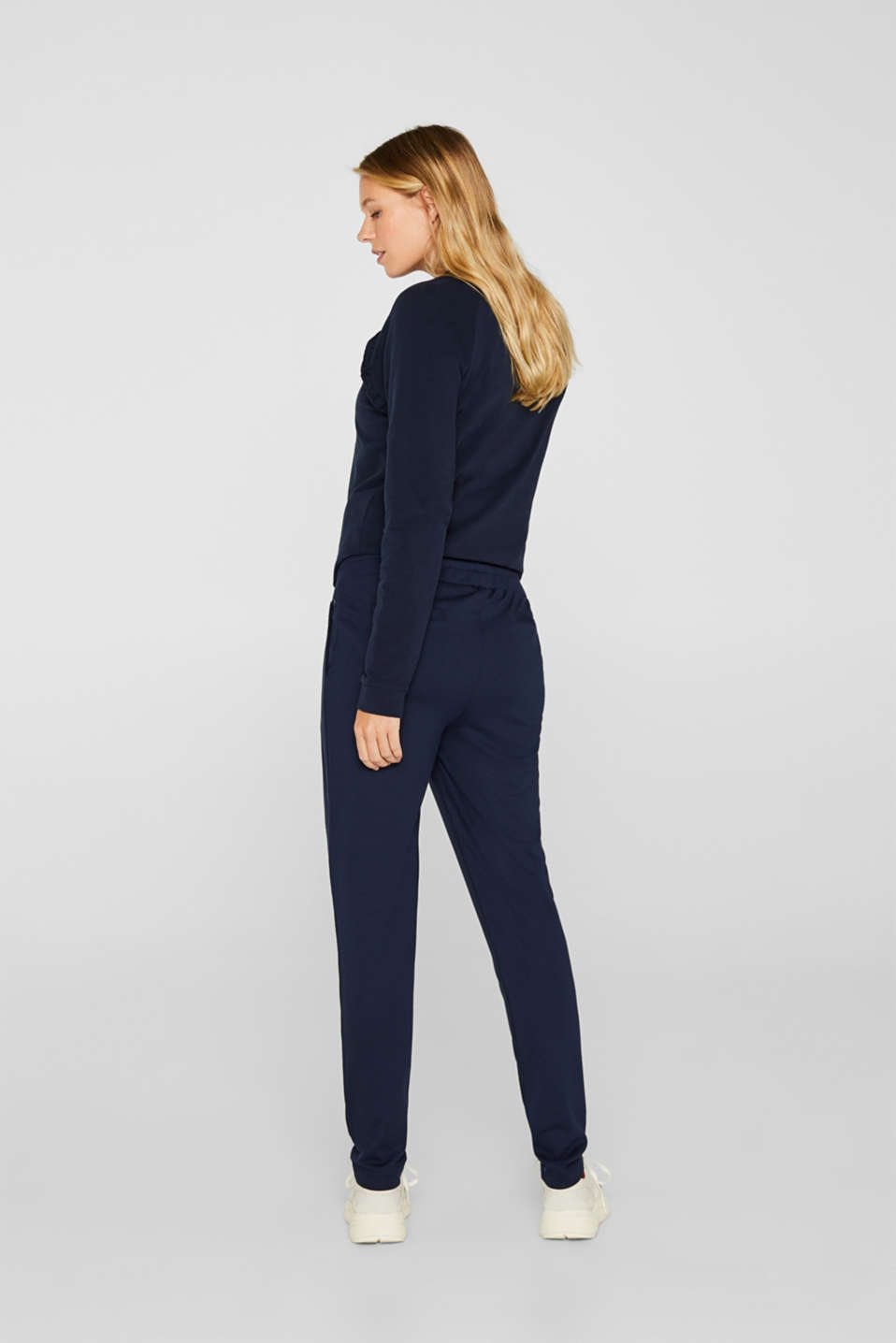 Stretch jersey trousers with under-bump waistband, LCNIGHT BLUE, detail image number 3